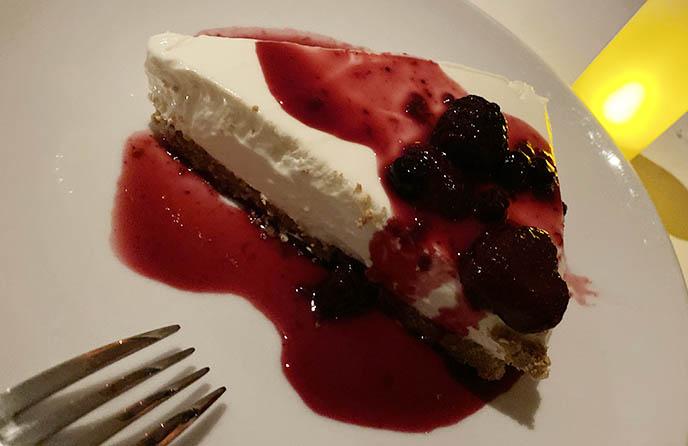 evzin palm springs dessert greek yogurt cheesecake