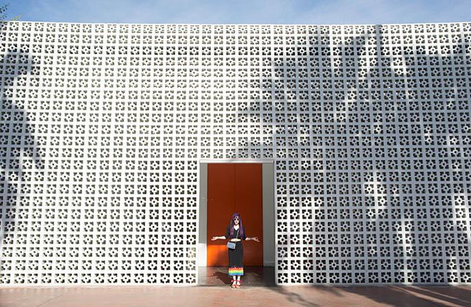 parker palm springs hotel door entrance entry
