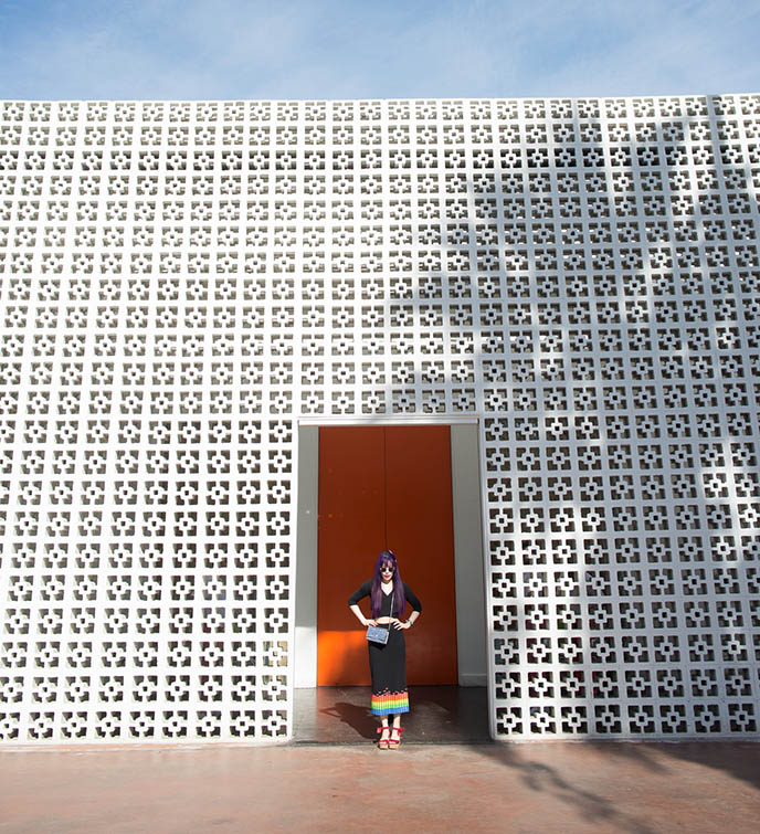 front entrance doors of the Parker Palm Springs