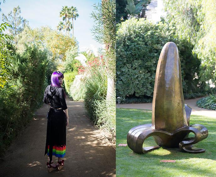 bronze banana sculpture palm springs parker