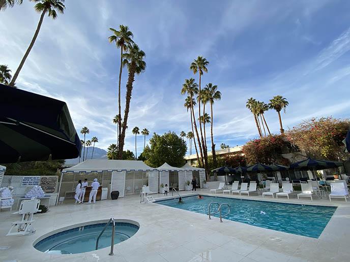 hip palm springs hotel pool spa