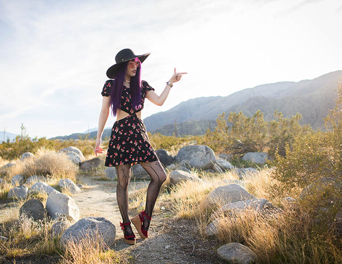 cowgirl cowboy hat desert outfit coachella