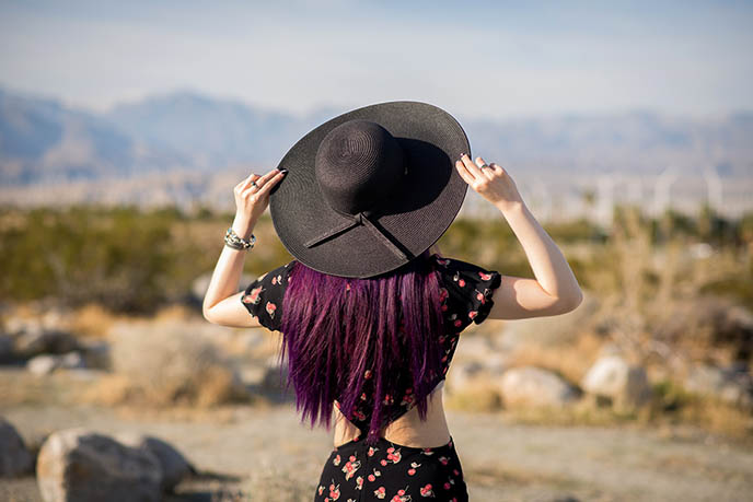 black goth hat witch sunhat hats