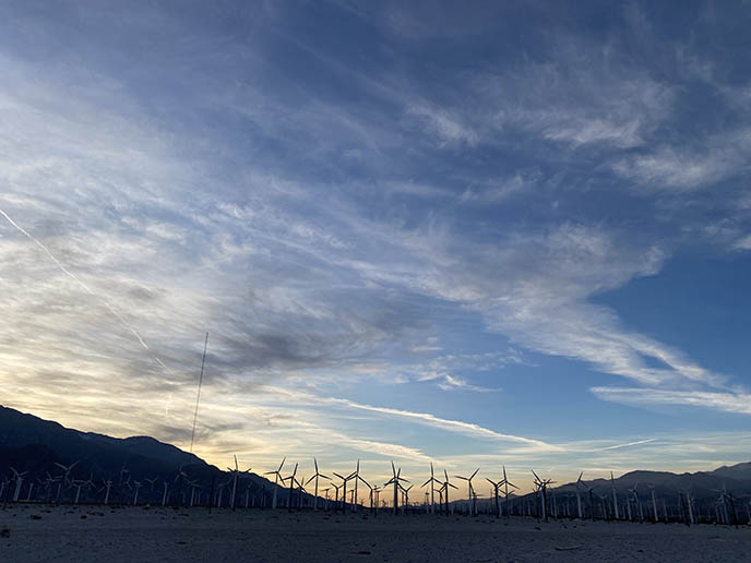 coachella valley wind turbines windmills landscape