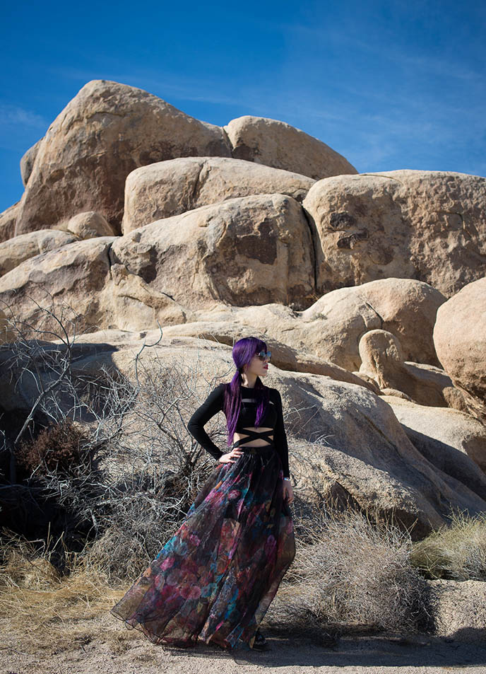 alien rocks climbing joshua tree california park