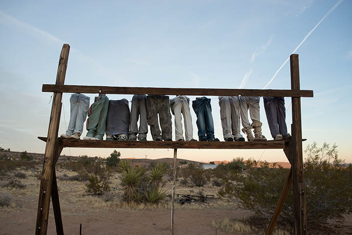 Noah Purifoy crosses  crucifix found art