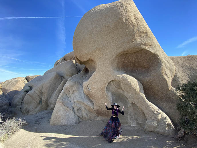 skull rock gothic rocks joshua tree goth palm springs