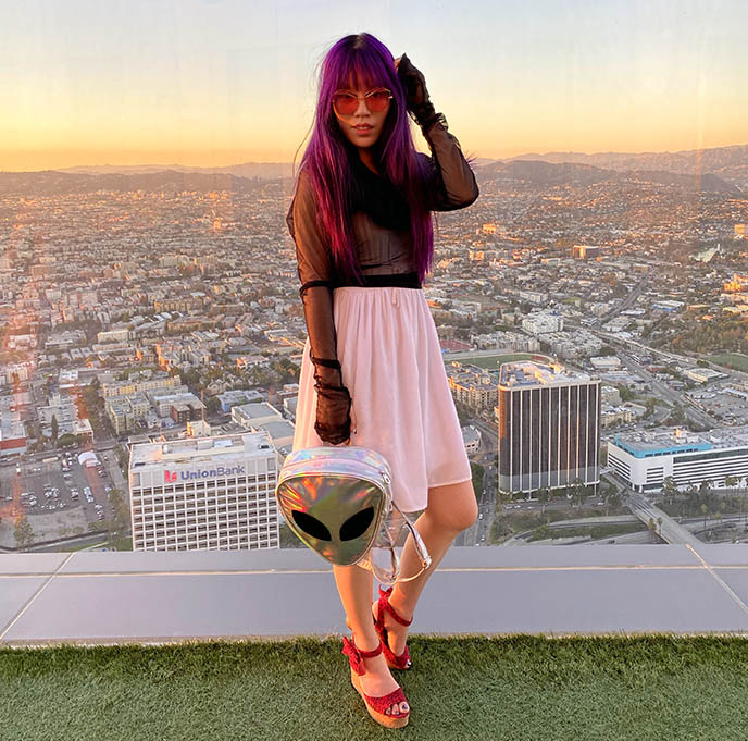 sunset la golden hour photos fashion blogger skyspace