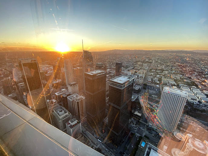 oue skyspace la events, panoramic view