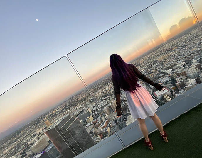 oue skyspace downtown la panorama observatory