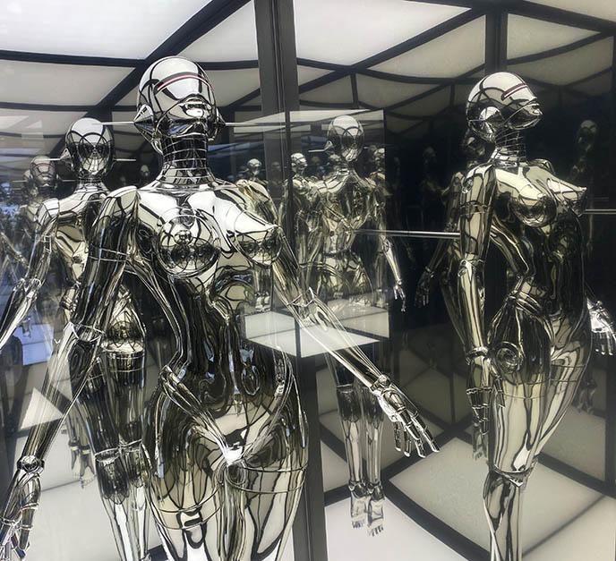 hajime sorayama sexy robot female sculptures japan tokyo