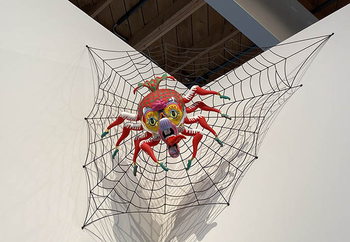 Keiichi Tanaami rainbow spider sculpturse weird japan artists