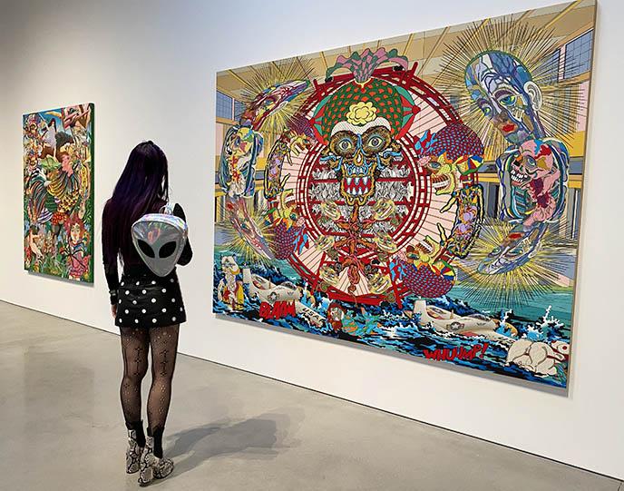 kawaii strange modern art japanese pop underground museum la