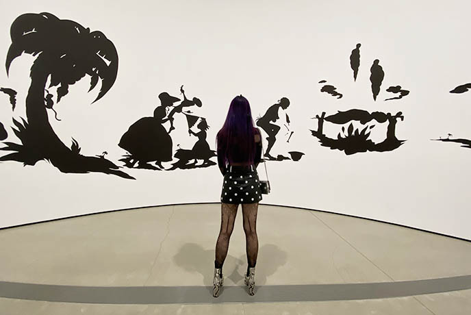 los angeles kara walker slavery, the broad african american slaves