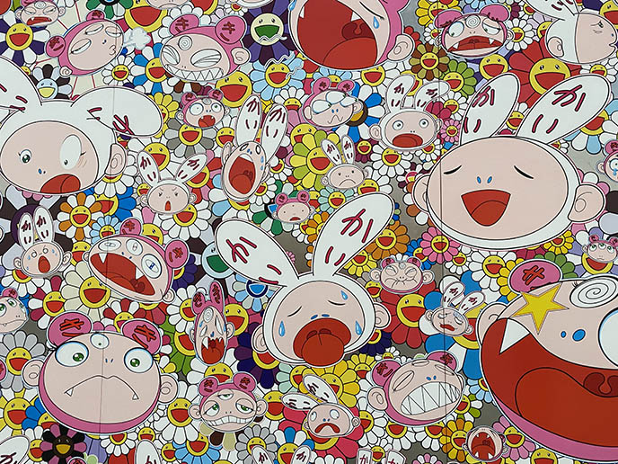 murakami cute bunny kawaii characters Kaikai Kiki art