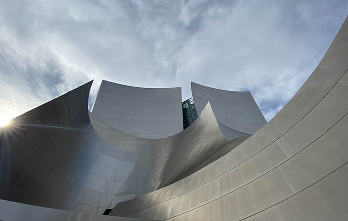 disney music hall futuristic downtown la architecture