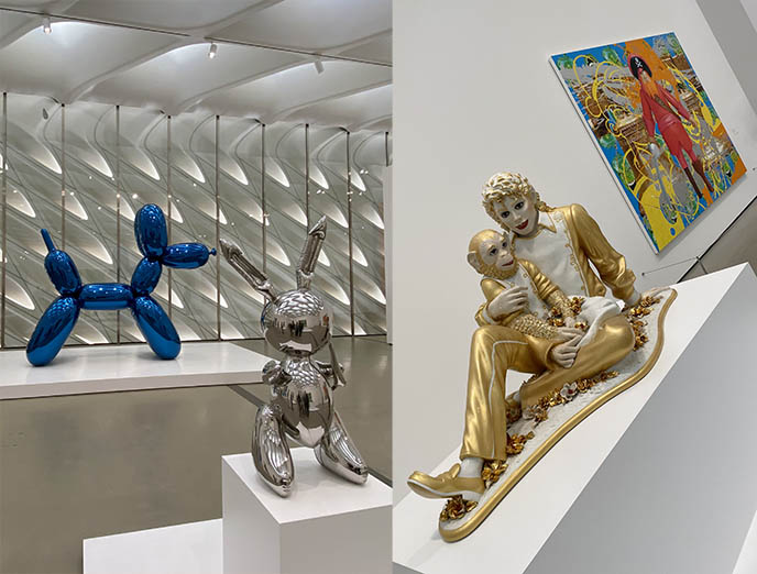 The Broad museum, Jeff Koons, Michael Jackson monkey balloon animals