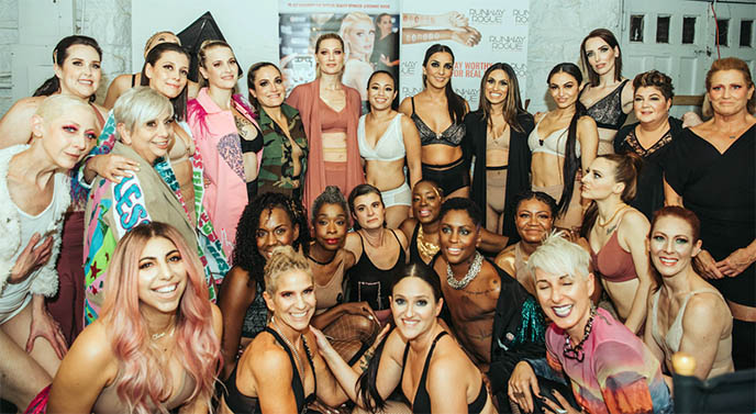 breast  cancer surgery scars nyfw  models