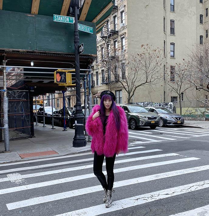 正品羊羔绒粉红色的外套蒙古羊夹克