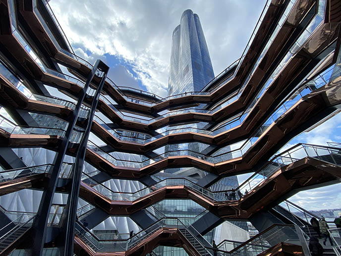 new york hudson yards vessel honeycomb buiding