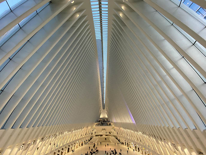 interior ceiling calatrava world trade center wtc metro station