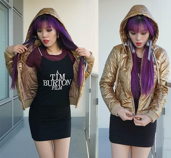 stellasstyle activewear coats, gold jacket l'urv