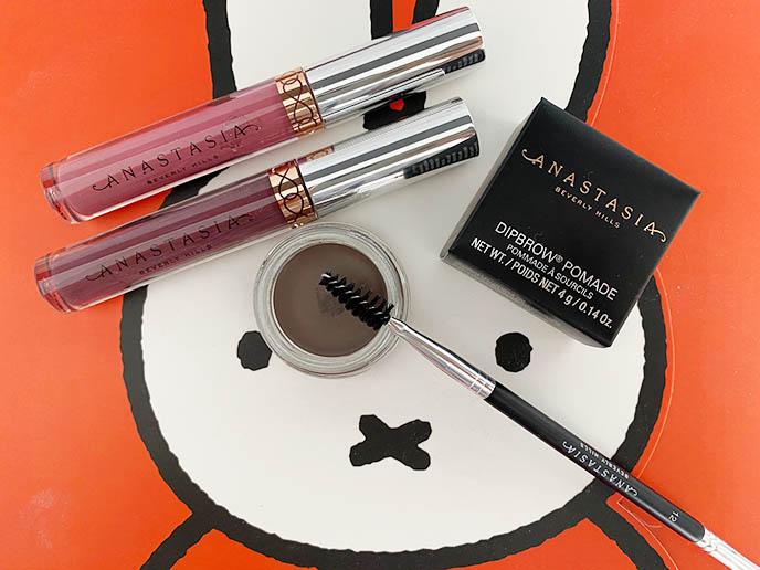 anastasia liquid lipstick colors, makeup eyebrow dipbrow reviews