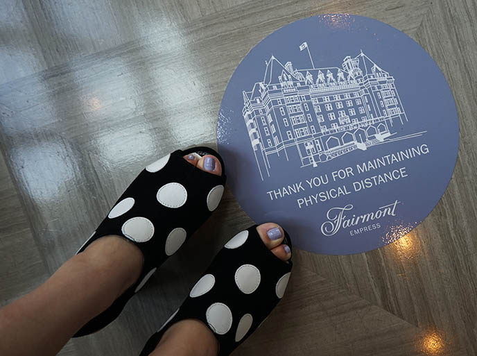 hotel fairmont social distancing signs designs