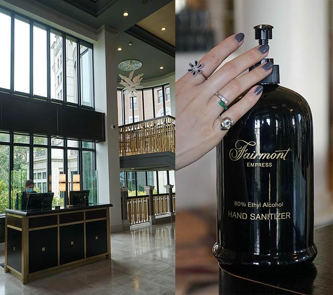 hotels hand sanitizer, pleixiglass sanitation measures