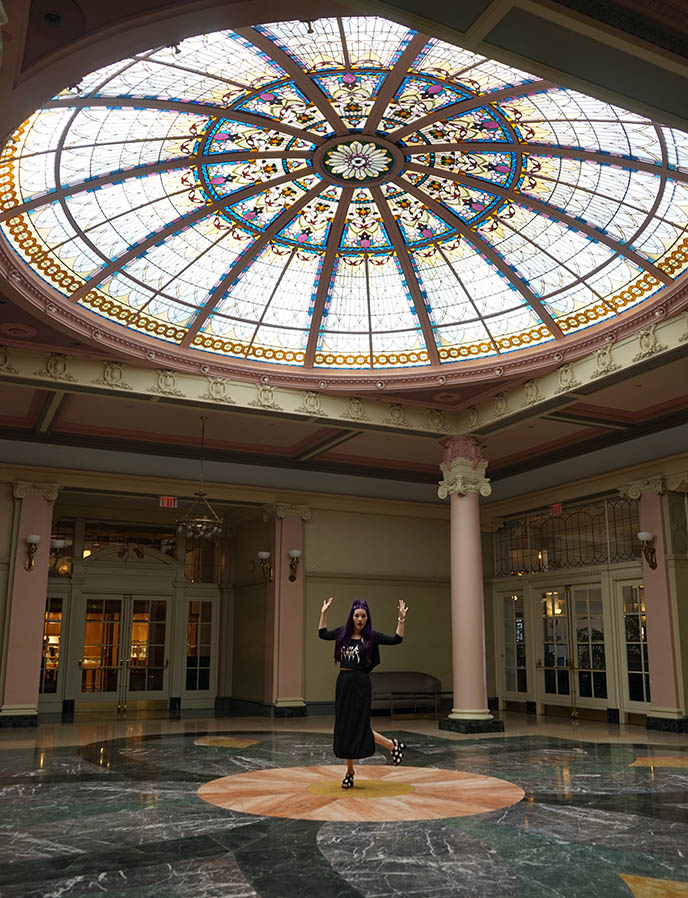 fairmont hotel victoria stained glass dome ceiling palm court weddings