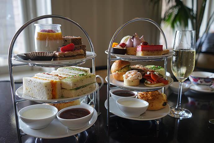 fairmont empress tea menu savory sweet desserts tray