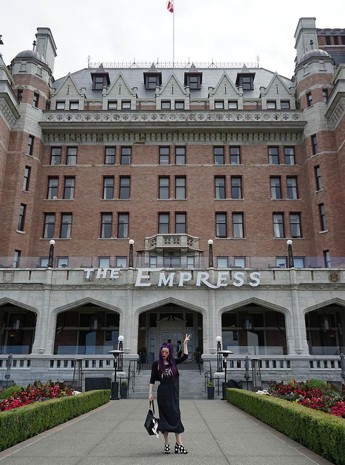 victoria luxury hotel fairmont empress outside architecture