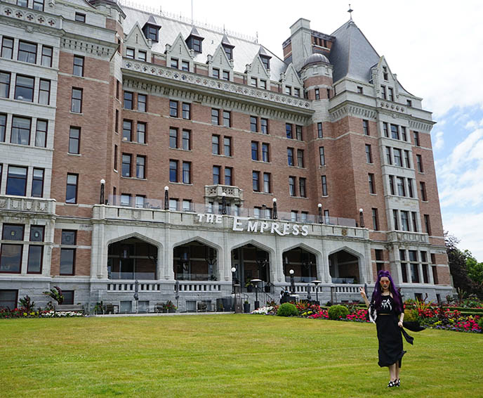 the empress hotel victoria exterior building entrance