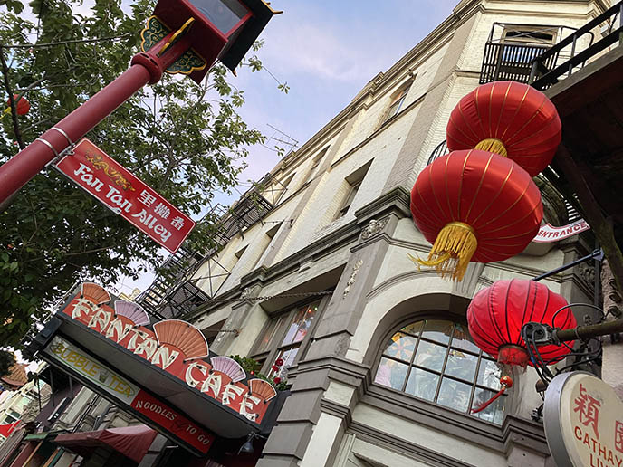 fan tan alley cafe signs china town bc