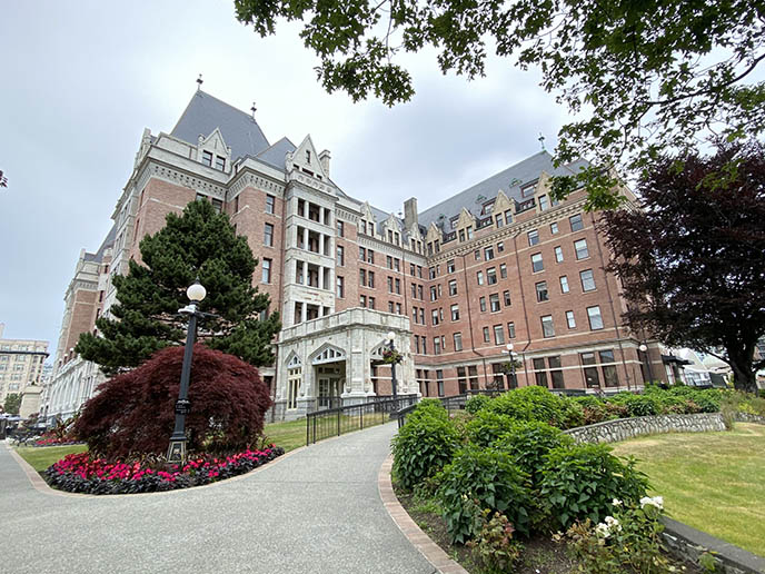 exterior renovated fairmont victoria bc empress hotel summer