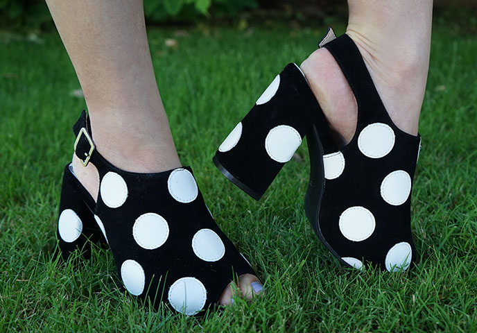 lola ramona retro sandals pola dots shoes chloe verve