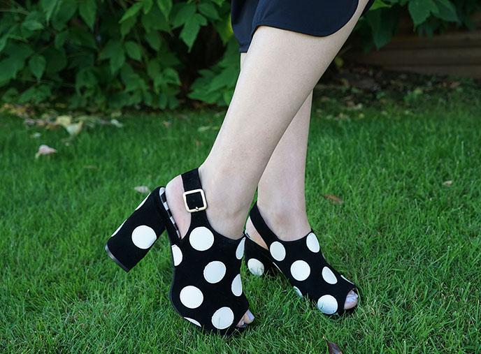 lola ramona chloe verve polk dot shoes sandals heels