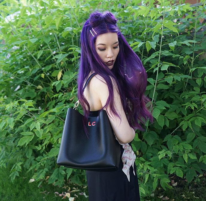 leatherology elizabeth bucket bag large leather black purse