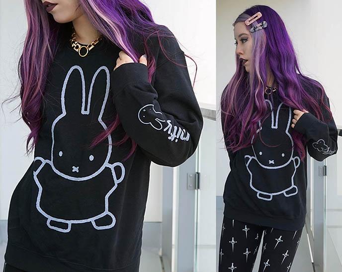 miffy truffle shuffle cute characters tshirt sweatshirt, bunny mascot fashion