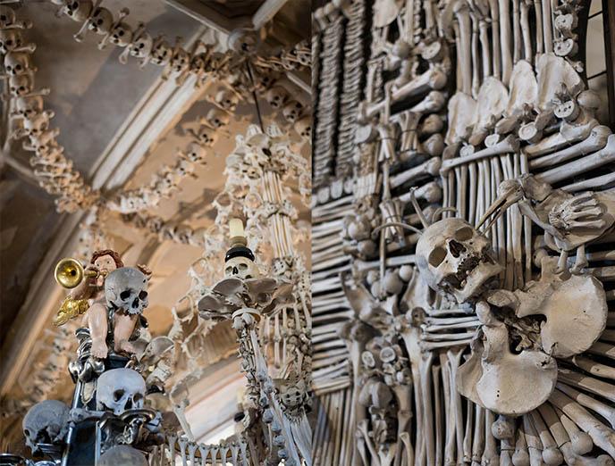 sedlec skeletons european church made from human bones skulls