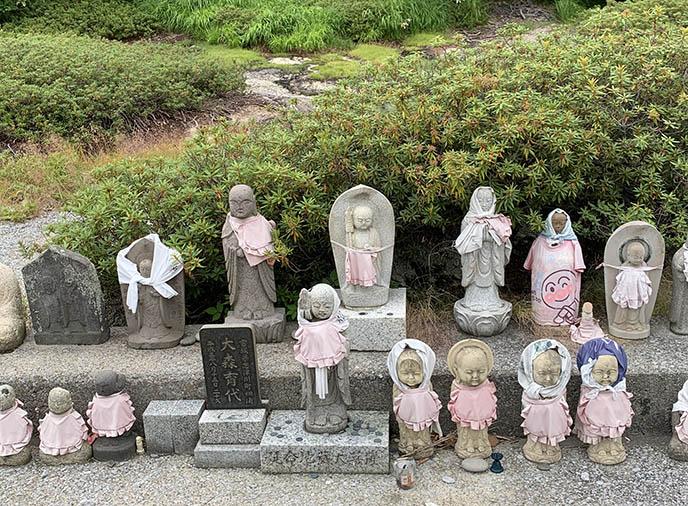 mount osore jizo children stone statues
