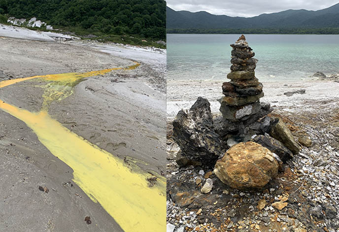 bodaiji temple osore mountain lake