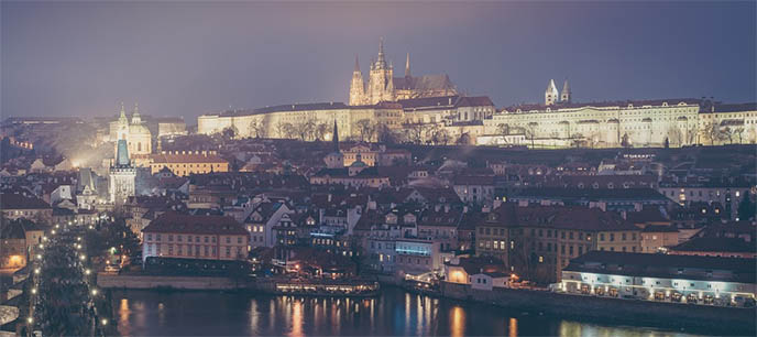 prague czech republic castle panorama