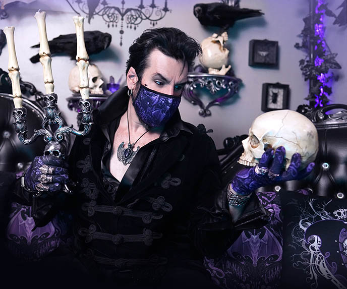 aurelio voltaire goth musician masks home decor