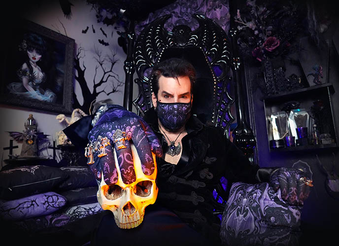 aurelio voltaire gothic homemaking show goth furniture decorations