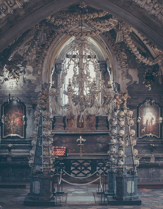 sedlec ossuary goth gothic bones church wedding venue