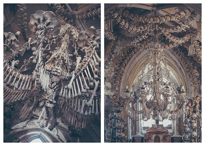 sedlec ossuary skulls prague skeleton church