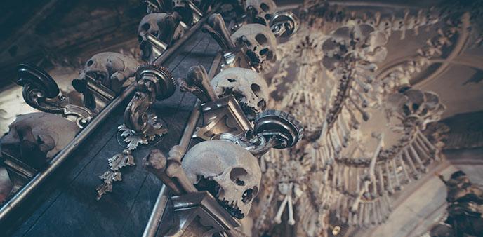 sedlec ossuary chandelier made from bones