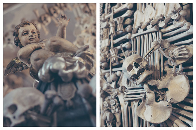 sedlec ossuary church statues angels cherubs