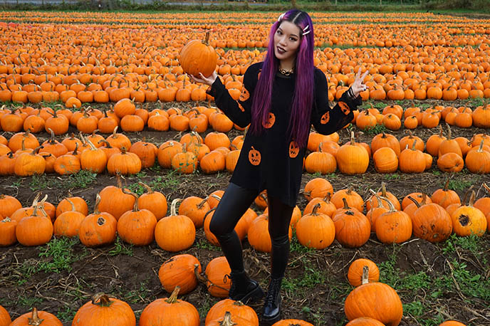style blogger instagram pumpkin halloween outfits spooky